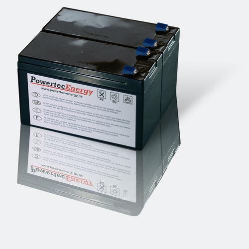 ersetzt auch 7,2Ah // 7Ah Powery Blei-Gel-Akku f/ür USV APC Back-UPS BR500I 9Ah 12V